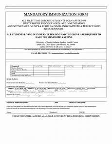 mandatory immunization form