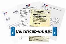 Certificat Immat Carte Grise Et Fiche Identification En Ligne