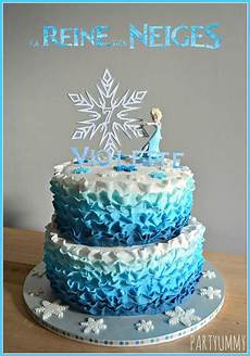 theme anniversaire reine des neiges frozen elsa ruffle cake tuto available on