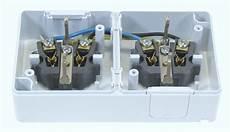 doppelsteckdose mit schalter aufputz steckdose ip44 16a 250v feuchtraum m klappdecke 2