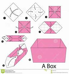 step by step how to make origami a box stock