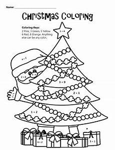 christmas coloring math coloring worksheet by education