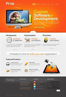 software company moto cms html template 42440