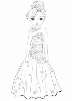 princess dress by funandcake topmodel ausmalbilder