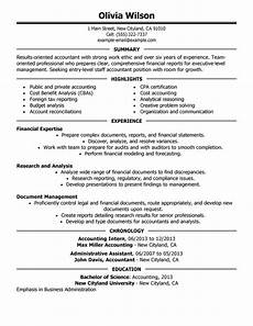 staff accountant resume exles free to try today