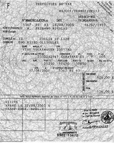 numéro vin ancienne carte grise carte grise combi vw 1973