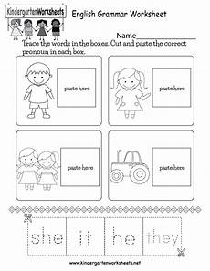 this is a pronoun worksheet for kindergarten kids kids can cut out the pronouns and paste them