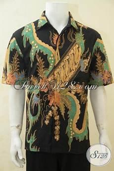 kemeja batik klasik modern dengan kombinasi warna mewah nan elegan batik baju modis proses