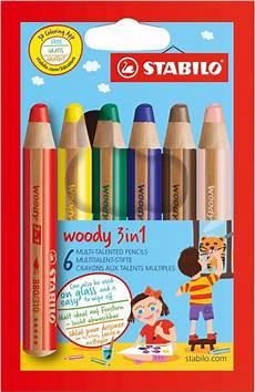 bol stabilo woody 3 in 1 kleurpotloden etui 6 stuks