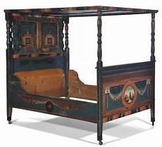 letto a baldacchino antico letto a baldacchino in legno dipinto arte tirolese