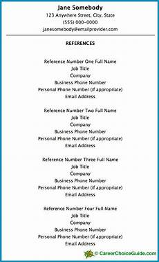 resume reference page setup tips template job hunting resume references reference page