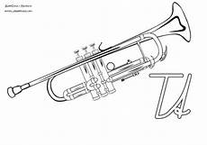Malvorlagen Trompete Abc Ausmalbilder Instrumente Mit Anfangsbuchstaben
