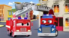carl der transformer truck und das feuerwehrauto in car