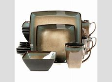 Gibson Tequesta 16 pc. Square Dinnerware Set, Color: Beige