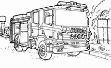coloring page truck scania