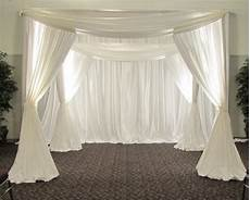 white color square canopy pipe and drape chuppah arbor drape wedding arch stainless steel