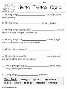 science worksheet living things 12282 living things quiz third grade science 4th grade science science worksheets