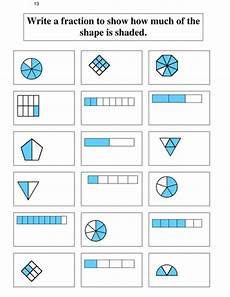 fraction worksheets shaded unshaded 4095 identifying and shading inequalities by uk teaching resources tes