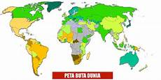 Peta Buta Indonesia World Map Weltkarte Peta Dunia