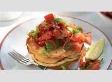 corn   jalapeno pancakes with tomato salsa_image