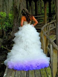 dip dye wedding dress trend will make your big day more colorful bored panda