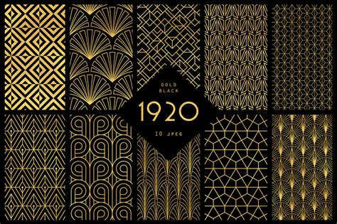 The Ultimate 1920's Art Deco Patterns Bundle To Create