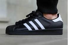 adidas superstar black white sneakernews