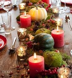 Dekoidee H 252 Bsche Tischdeko Mit Herbstlandschaft Deko