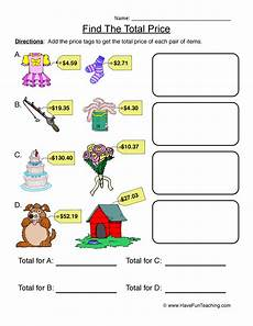 addition worksheets have fun teaching