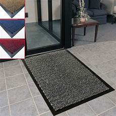Small Rubber Door Mat by Heavy Duty Non Slip Dirt Ribbed Barrier Large Small
