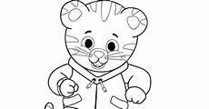 daniel tiger coloring page daniel tiger birthday pinterest daniel tiger and pbs kids