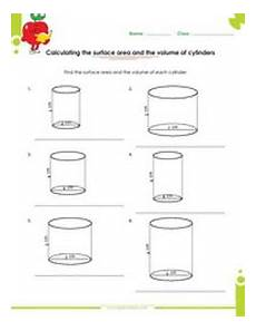 surface area volume of solid figures worksheets