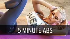 5 minute ab workout youtube