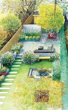 Ein Hausgarten In Neuem Glanz Narrow Garden Layouts And