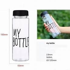 botol minum plastik bening juice lemon my bottle 500ml black jakartanotebook com