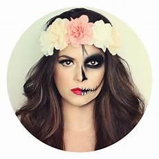 Maquillage Moiti 233 Moiti 233 Squelette Fleurs