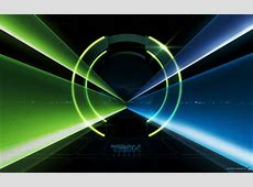 Tron Legacy Light Tunnel Desktop Wallpaper