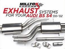 ecs news audi b5 s4 milltek exhaust system