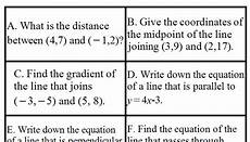 equations of lines and other coordinate geometry in