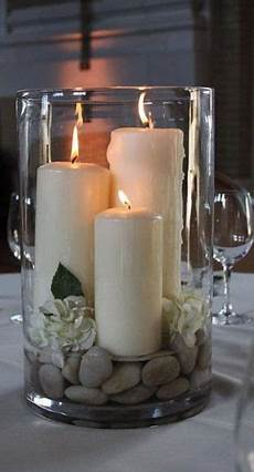 centrotavola candele inspiration for a table setting and a substitute for