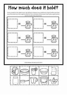 grade 1 measurement worksheets free 1990 capacity non standard measurement for kindergarten grade one math math measurement 1st