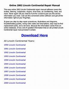 auto repair manual free download 1990 lincoln continental mark vii interior lighting 2002 lincoln continental repair manual online by johnny issuu