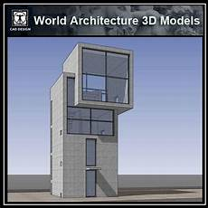 sketchup 3d architecture 4x4 house tadao ando cad design free cad blocks drawings