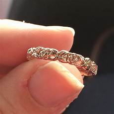 it s here my rose gold floral wedding band