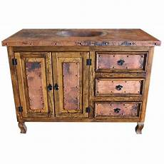48 quot copper top vanity copper doors single sink rustic
