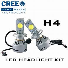 h4 hi lo cree headlight led kit 3200 lumens