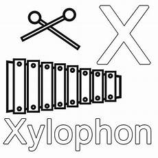 Buchstaben Malvorlagen Xyz Buchstaben Lernen Kostenlose Malvorlage X Wie Xylophon