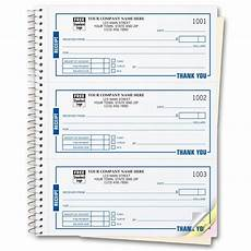 spiral bound custom receipt book printing free shipping