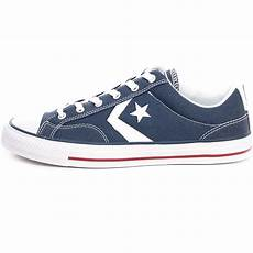 converse player ox mens trainers in navy white