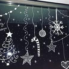 kreidestift fensterbemalung deko weihnachten fenster